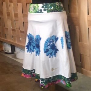 Desigual white A line skirt